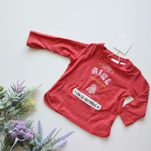 ⏰LAST CHANCE⏰ Zara BabyGirl Red Super Girl Tee